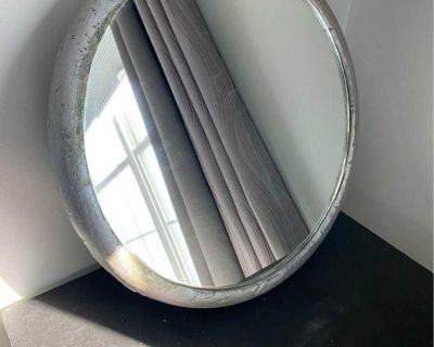 Mirror with Styrofoam frame to add your own decor