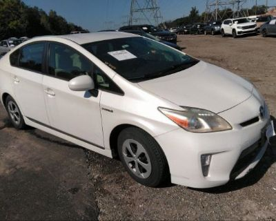 Salvage White 2012 Toyota Prius