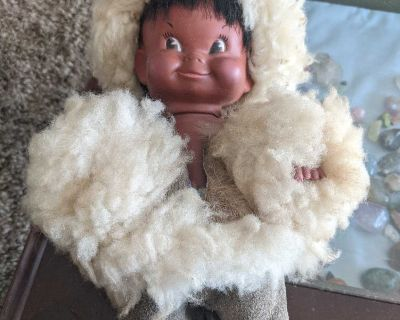 Vintage Inuit Doll Made In Canada