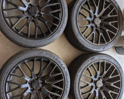 American Muscle replica GT PP1 wheels, 19x9, Bridgestone RE-71Rs