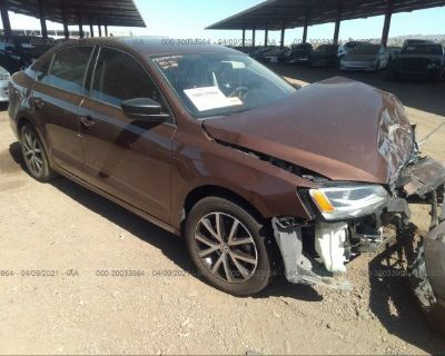 Salvage Brown 2016 Volkswagen Jetta Sedan