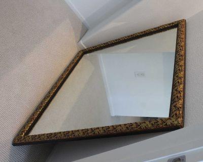 Mirror designer mirror gold