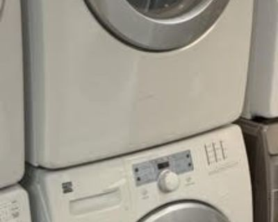 "GREAT WORKING ORDER KENMORE 27"" STACKABLE WASHER AND ELECTRIC DRYER (SET)"