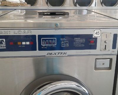 Dexter Front Load Washer Double Load Coin Op T300 3PH WCN18ABSS Stainless Steel