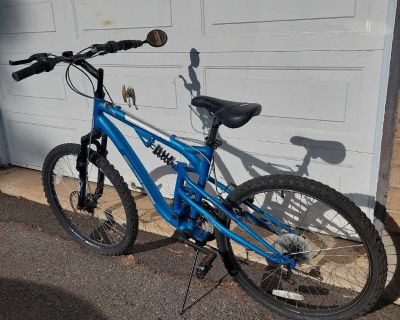 Dual Suspension Mountain Bicycle - V lo Montagne Wicked - Disc Brake/24 inch wheels/21 speed