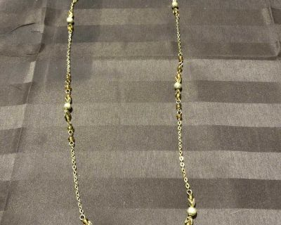 Pretty Gold Accented Necklace - 24 around