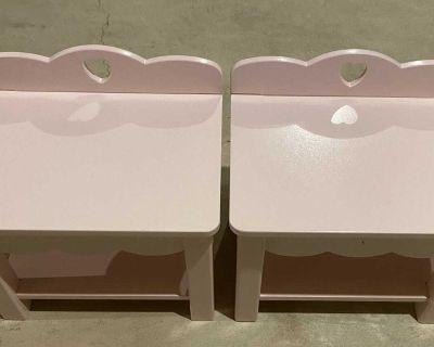 Pink Kidkraft side table