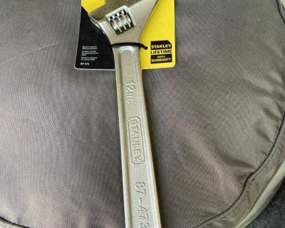 12 Stanley Adjustable Wrench New