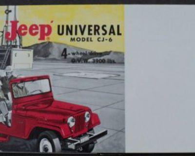 1963 Jeep Universal Cj-6 4wd Overland Sales Brochure