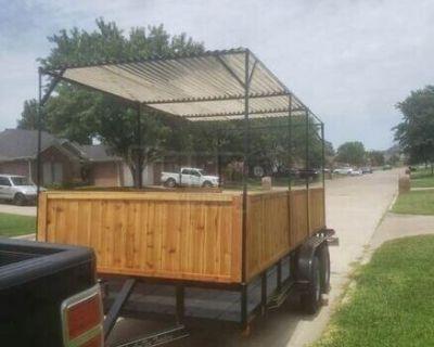 8' x 16' Barbecue Concession Trailer / Used Mobile BBQ Unit