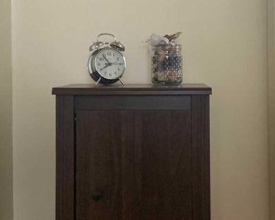 Brown minimalist nightstand