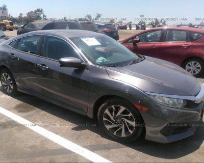 Salvage Gray 2016 Honda Civic Sedan