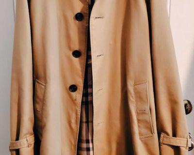 Authentic Men's Burberry Trench Coat Size 56 ( XL)