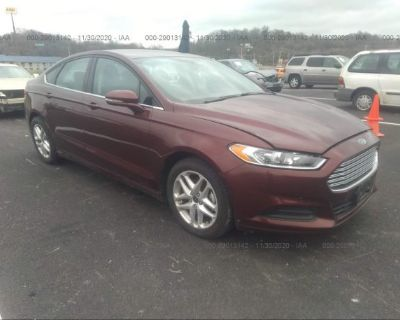 Salvage Red 2015 Ford Fusion