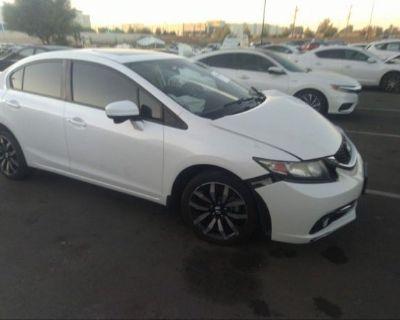 Salvage White 2015 Honda Civic Sedan