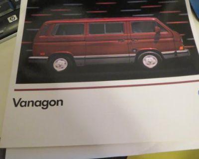 NOS 1989 Vanagon Dealership Brochure