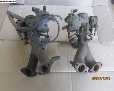 Set Of Bus Dual Solex Carburetors (Cc)