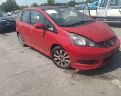 Salvage Red 2013 Honda Fit