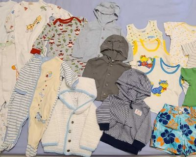 Baby boy clothes lot 6-12 months (17 items)