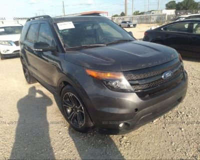 Salvage Gray 2015 Ford Explorer