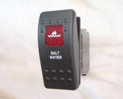 Saltwater Pump Switch Marine Boat Panel Carling V1d1 1 Red Lens Black Contura Ii