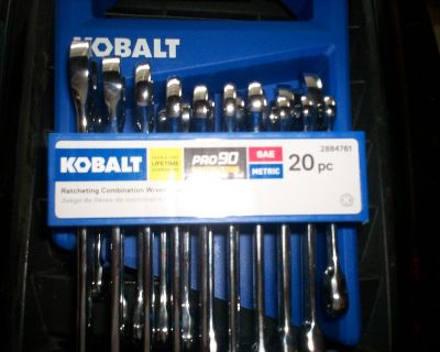 20 pc. kobalt ratching wrench set - 10 inch and 10 metric