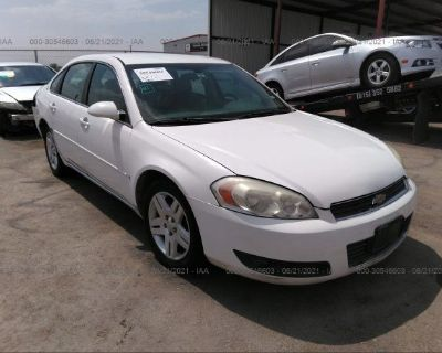 Salvage White 2008 Chevrolet Impala
