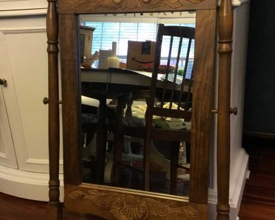 Excellent Condition, Vintage Mirror used on a dresser can be modified for other uses. Above Landa Park