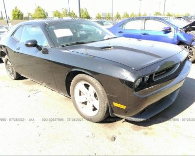 Salvage Black 2013 Dodge Challenger