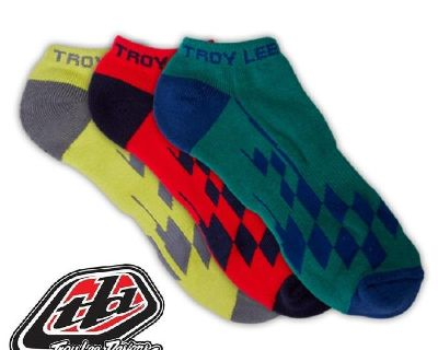 Troy Lee Designs Tld Ankle Socks- Race Checkered Multi 3-pack- 2 Sizes Available