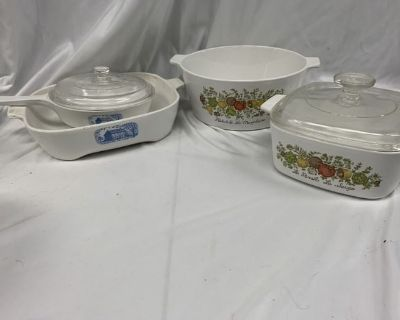 antiques, collectibles, Corning ware, Pyrex and more. SHIPPING AND LOCAL PICKUP AVAILABLE!!!