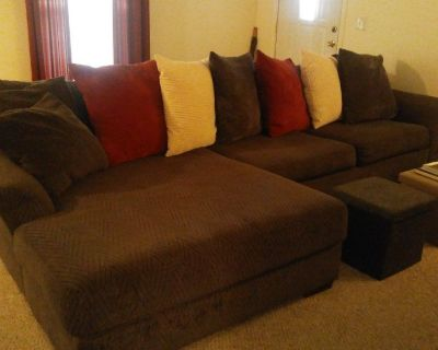 Dark Grey Sectional sofa with chaise lounge