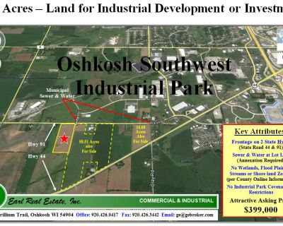 18 Acres Heavy Industrial Land - For Sale