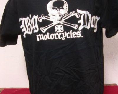 Big Dog Motorcycles Pirate Skull Shirt Short Sleeve Chopper Pitbull Bdm