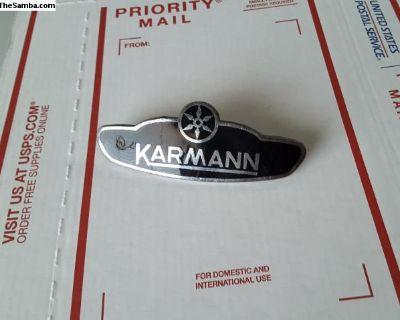 Original Bug Convertible Karmann Badge Emblem