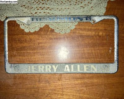 Beaumont Texas Jerry Allen license plate frame