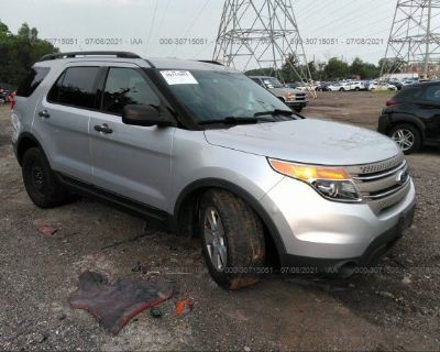 Salvage Silver 2013 Ford Explorer