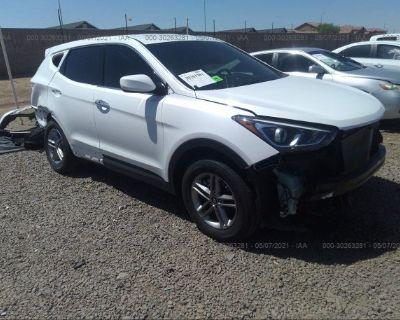 Salvage White 2018 Hyundai Santa Fe Sport