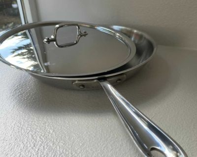 All-Clad 12 inch stainless steel skillet with lid