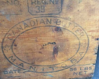 Vintage Canadian butter wooden box