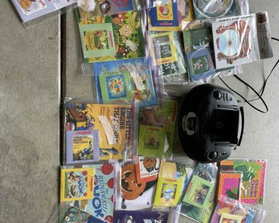 20 like new books on cd and CD player