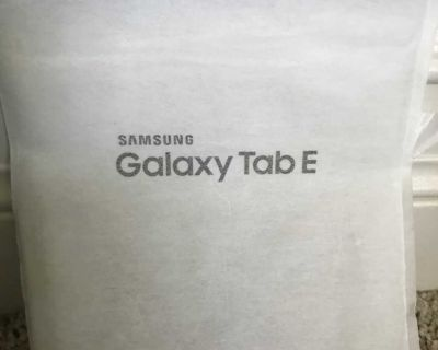 Samsung Galaxy Tab E 8, new condition, used once and not needed.