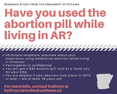 Have you ever used the abortion pill while living in AR?