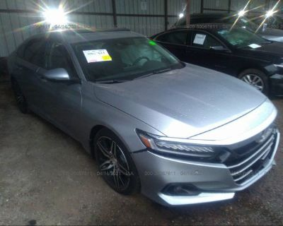 Salvage Silver 2021 Honda Accord Sedan