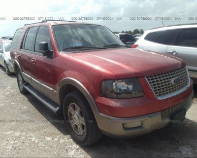 Salvage Red 2003 Ford Expedition