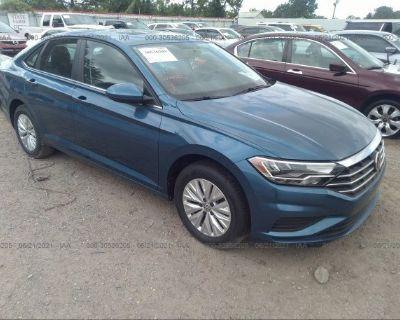 Salvage Blue 2020 Volkswagen Jetta