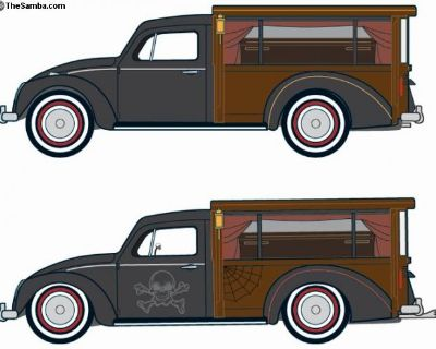 VW Beetle Hearse Project - almost finished.