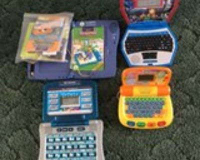 LeapPad, Spider-man, Phonics Notebook and vetch Laptop