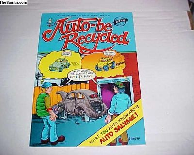 Rare 1980 Auto-be Recycled Last Gasp Comic