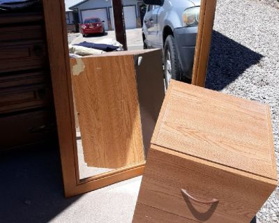 Mirror and file caninet